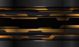 Resumen amarillo negro metálico tecnología cibernética diseño futurista fondo moderno ilustración vectorial. vector