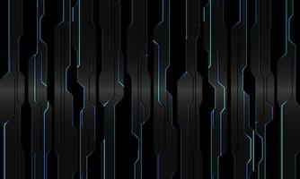 Circuito de luz azul abstracto en gris metálico negro geométrico diseño cibernético tecnología moderna fondo futurista ilustración vectorial. vector