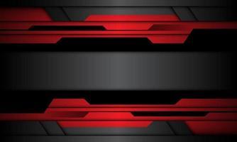 Resumen rojo gris negro metálico cibernético diseño de banner geométrico moderno fondo futurista ilustración vectorial. vector