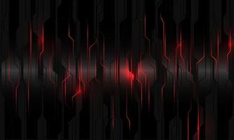 Abstract red light power circuit on black metallic cyber geometric design modern technology futuristic background vector illustration.
