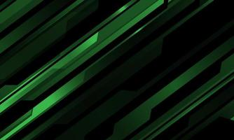 patrón cibernético metálico verde abstracto en diseño negro tecnología moderna fondo futurista ilustración vectorial. vector
