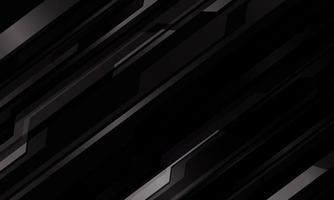 Patrón cibernético metálico gris oscuro abstracto en ilustración de vector de fondo futurista de tecnología moderna de diseño negro.