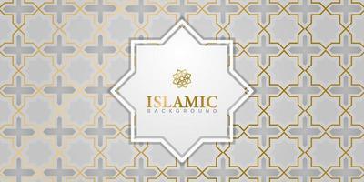 Golden ornamental islamic design background vector