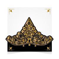 vector de diseño de batik de plantilla de tarjeta de felicitación cuadrada