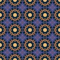 Seamless pattern with abstract mandala ornamental arabesque illustration.  Decorative classic tile pattern. vector