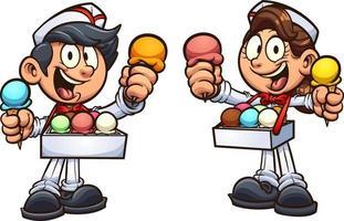 Ice cream kids vector