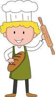 Baker boy cartoon character cartoon character vector