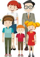 Member of family cartoon character on white background vector