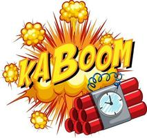 Comic speech bubble with kaboom text vector