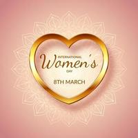 decorative international womens day background 1401 vector