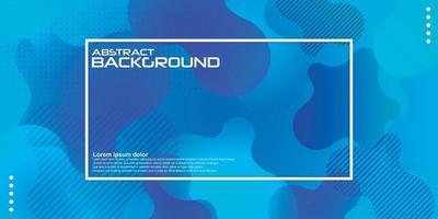 Fondo de color azul líquido. Diseño dinámico de elementos geométricos texturizados con decoración de puntos. Ilustración de vector de luz degradado moderno.