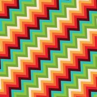 Fondo de estilo retro con patrón de zig zag vector