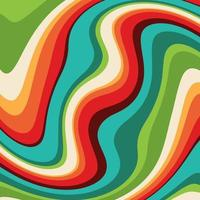 Abstract background with a retro swirl design vector