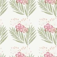Watercolour floral pattern background design vector