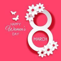 diseño de papel del día internacional de la mujer vector