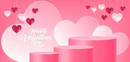 Valentine's day product display vector