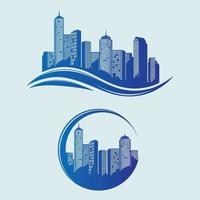 City Skyline Vector logo design set