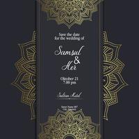 Mandala template with elegant, classic elements. Great for invitation, flyer, menu, brochure, background Premium Vector