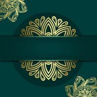 Fondo de marco decorativo ornamental floral y mandala de lujo vector premium