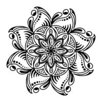 Hand drawing zentangle mandala element for page decoration cards, book, logos vector