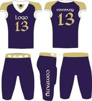 American football uniform Jersey and Short vector