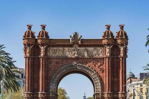 el arco triunfal de barcelona foto