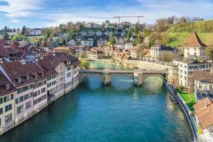 View of the old city center Bern in Switzerland photo
