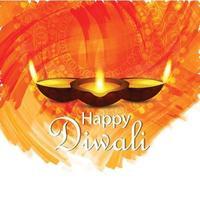 Happy Diwali festival of light background vector