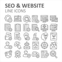 SEO and Website Outline Icon vector