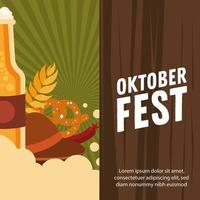 Oktoberfest beer celebration banner vector