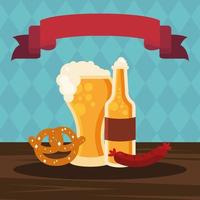 oktoberfest beer celebration vector