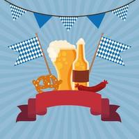 celebración de la cerveza oktoberfest vector