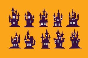 conjunto de casa de halloween