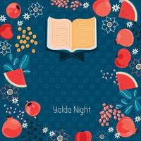 Illustration Vector concept happy Yalda night party