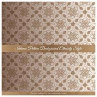 Islamic Pattern Background Ethnicity Style vector