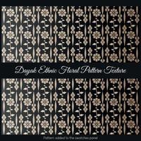Dayak Ethnic Floral Pattern Texture vector