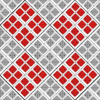 Romanian and moldavian seamless pattern with traditional red squares and lines. Repetitive eastern european background for clothes. vector
