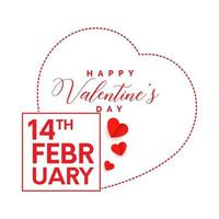 Simple elegant happy valentines day concept design with love sign isolated white background