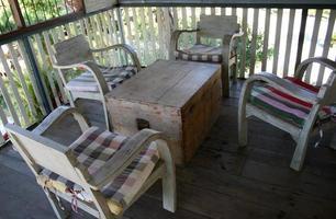 muebles de patio viejos