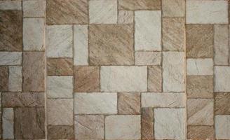 Brown marble-stone mosaic texture photo