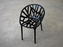 silla negra moderna