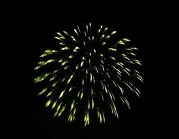 Yellow firework in the sky photo