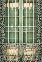 parrilla de ventana de hierro forjado antiguo