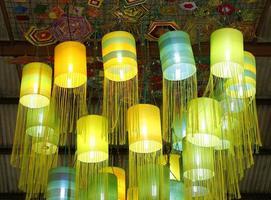 Oriental silk lamps