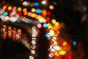 Bokeh street lights