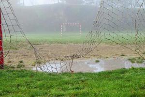 Broken soccer nets