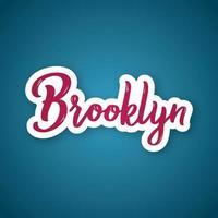 Brooklyn - ciudad de nombre de letras dibujadas a mano. vector