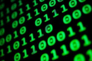 Numerical continuous code in green color photo