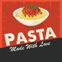 Pasta Poster Vector Art
