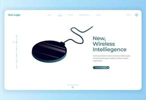 Wireless Charger Isometric illustration for Landing Page vector